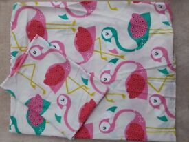 Next Child Flamingo bedding 120x150cm