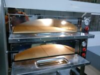 """Electric Double Pizza Oven, Commercial, 8x13"""" pizza, 1 year Warranty, Single/3 phases,Quick delivery"""