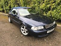 2001 VOLVO C70 2.4 T AUTO CONVERTIBLE (55,000 miles) Long mot! PX? Cards accepted.