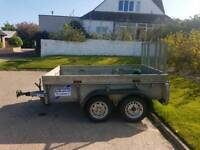8ft by 5ft ifor williams twin axle trailer.