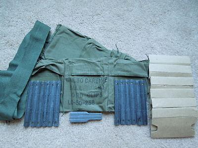 Vietnam .30 M1 Carbine Bandoleer Kit LateType 1972 (No Guides On Each Clip) RARE
