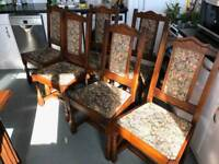 Solid Oak Old Charm wooden dining chairs