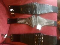 3 sexy corset type belts by New Look brand new with tags have a look at pics small medium
