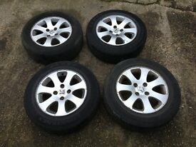 "PEUGEOT 307 15"" APOLLO ALLOY WHEELS SET OF FOUR"