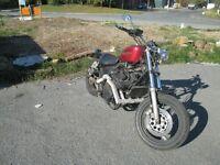 chopper suzuki 600 engine Harley sporster style bobber barn find