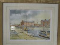 K W Burton Gloucester Docks Signed Framed Ltd Edition 229/850