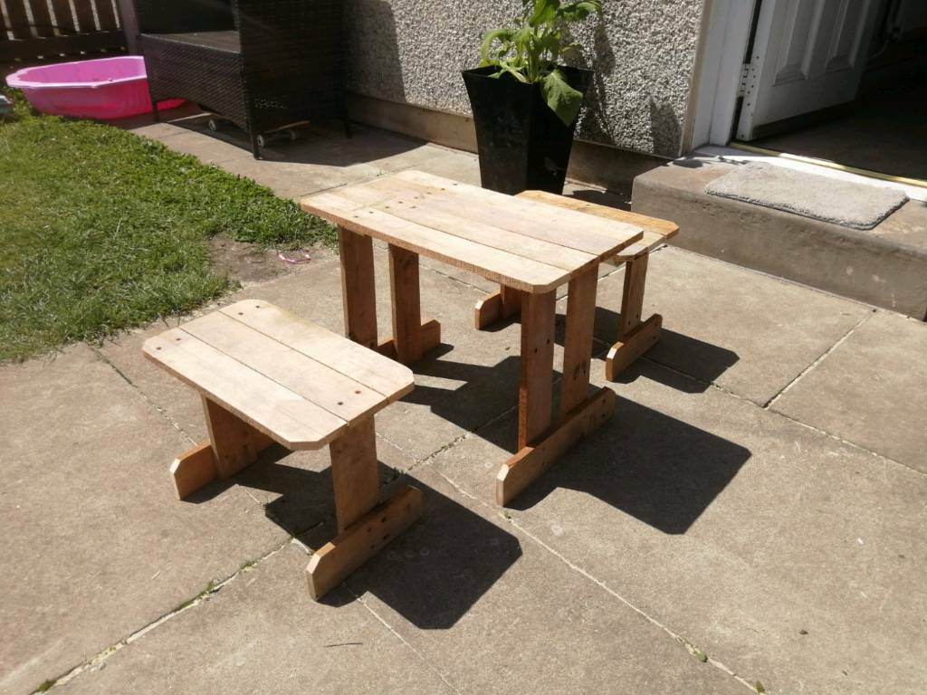 Wondrous Handmade Rustic Childrens Table And Chairs In Norris Green Merseyside Gumtree Theyellowbook Wood Chair Design Ideas Theyellowbookinfo
