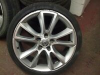 "VAUXHALL ASTRA VXR ALLOY WHEEL 19"" SINGLE WHEEL ONLY INC TYRE NOTE THIS WHEEL HAS A REPAIR"