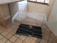 Dog Crate as new, medium, silver 2 door, packs flat.