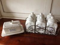 Butter dish and Spice rack