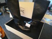 BNIB Black Burberry Riding Boots UK 7
