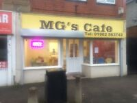 MG's Cafe for sale. Great for a starting business