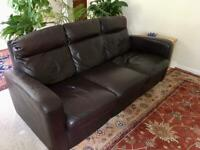 Italsofa Leather Sofa and Chair