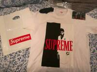 Supreme x Scarface Split Tee White Medium M
