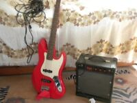 Electric Guitar. Marlin Hohner and Amplifier