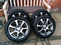 "16"" Autec (Type Z) Zenit - Matt Grey Alloy Wheels/Tyres to fit Citroen, Peugot, Ford"