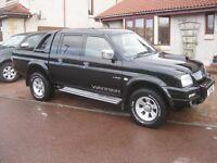 Mitsubishi Warrior Black 2.5 Diesel 4WD. 05 Plate. NO VAT