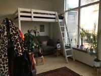 *RESERVED* IKEA STORA loft bed frame / high sleeper / bunk bed white 140cm x 200cm