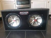 Kicker Subwoofer and Amp