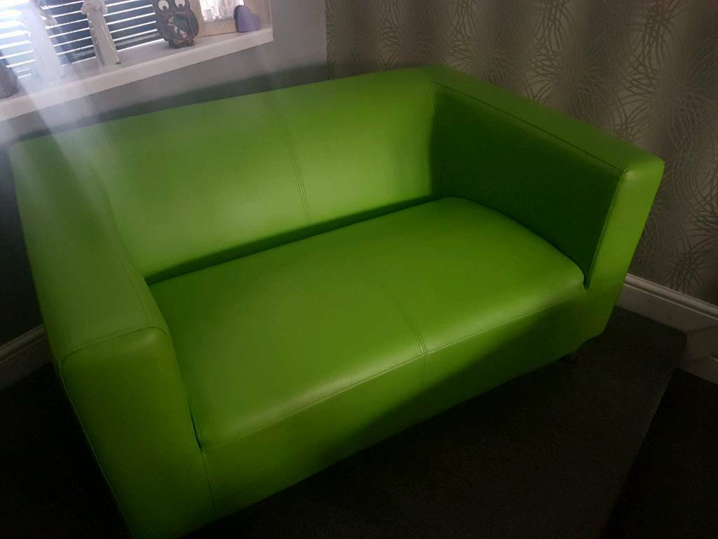 2 Seater Moda Sofa Apple Green In Leicester