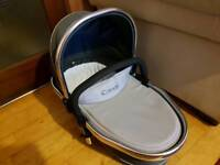 Icandy peach 3 truffle lower carry cot+double convrting addaptors pram/pushchair