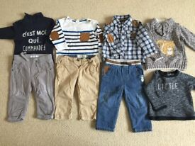Baby boy clothes 6-9 months very good condition 18 items
