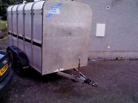 10 x 5ft3 ifor williams cattle trailer, working lights and brakes, tidy condition