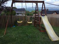 Plum Tamarin climbing frame/ swings/ slide