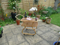 Bamboo Trolley - ideal for parties indoors or on the patio. Good condition.