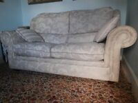 Sofa-Bed Foldable Double DFS Beige-silver fabric, collection from Glasgow