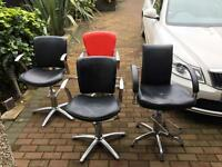 4 x Hairdressing chairs