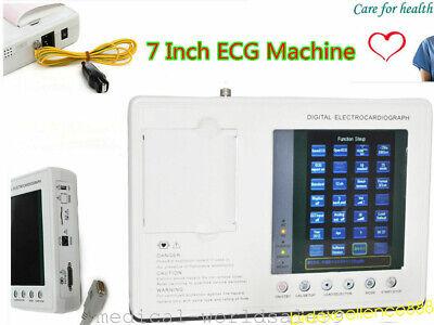 Portable Electrocardiograph Digital 3 Channel 12 Lead Ecgekg System Handheld
