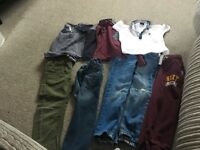 Boys Next clothing bundle age 5 & 6years Tops Jeans and joggers