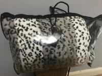 Huge leopard print throw