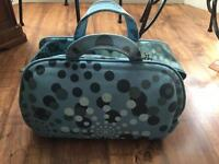 Used Blue Spotty Travel Bag