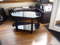 furniture , 2 tier glass topped tv table , good condition