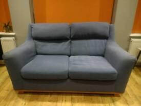 Blue Dansk 2 Seater Sofa