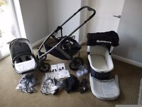 Uppababy Vista Travel system in Mica (Silver)