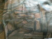 Pair of fully lined curtains with tiebacks
