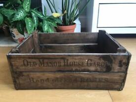 Wooden grocery box style crates