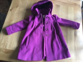 Girls Monsoon coat age 5-6