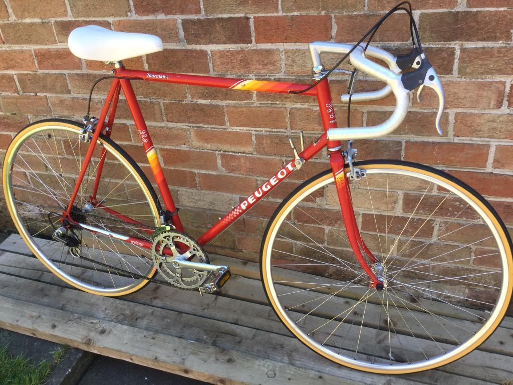 1980s Vintage Peugeot Tourmalete Road Racing Bike 23 60cm