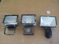 3 Halogen Security / Flood lights