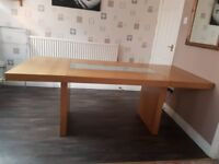 Heavy solid wood family dining table