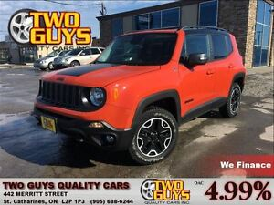 2016 Jeep Renegade Trailhawk 4X4 NAVIGATION DOUBLE MOON ROOF