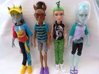 Four male Monster High dolls