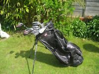 RAM GOLF CLUBS MENS RIGHT HAND IN BAG WITH STAND