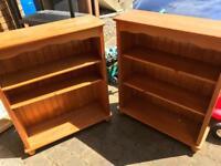 2 pine bookcases