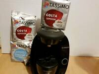 Tassimo coffee marker with pods