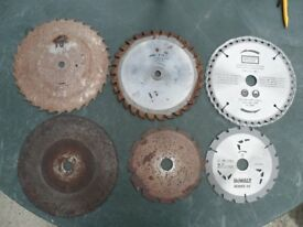 Circular saw blades various sizes